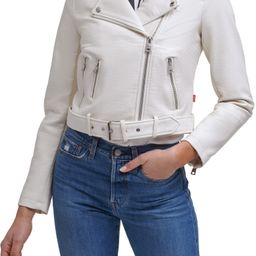 Faux Leather Fashion Belted Moto Jacket | Nordstrom
