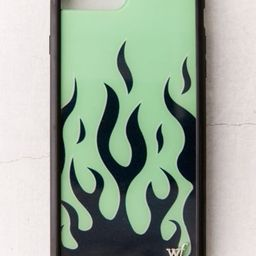 Wildflower Neon Green Flame iPhone Case | Urban Outfitters (US and RoW)