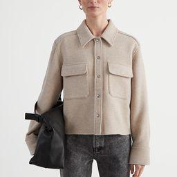 Oversized Cropped Patch Pocket Jacket   & Other Stories