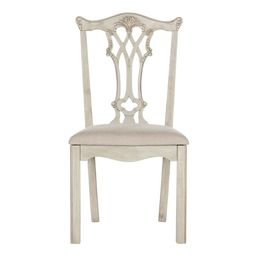 """Safavieh Whitfield Mahogany Chippendale Taupe Side Chair - 19.8""""x19.8""""x40.3""""   Overstock"""