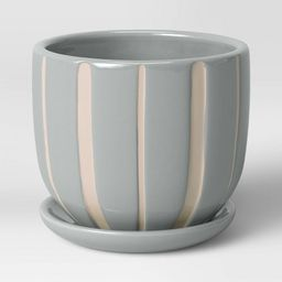 Earthenware Ceramic Grooves Planter - Threshold™ | Target