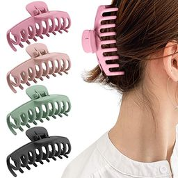 Gifeel Big Hair Claw Clips, 4.33 Inch Non Slip Large Claw Hair Clips for Women and Girls Thin Hai...   Amazon (US)