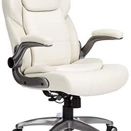 AmazonCommercial Ergonomic High-Back Bonded Leather Executive Chair with Flip-Up Arms and Lumbar ... | Amazon (US)
