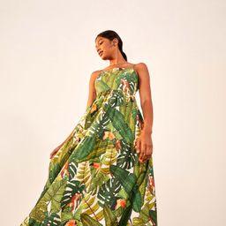 paradise forest maxi tiered dress | FarmRio