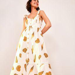 leopard shell midi dress | FarmRio