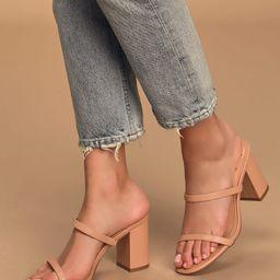 Ariellie Light Nude High Heel Sandals | Lulus (US)