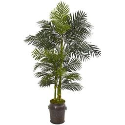 Nearly Natural84-in Green Artificial Palm Trees | Lowe's