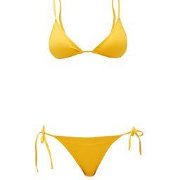 Eres - Mouna & Malou Triangle Bikini - Womens - Yellow | Matchesfashion (Global)