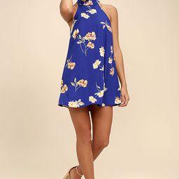 Darling Dearest Royal Blue Floral Print Swing Dress | Lulus (US)