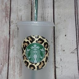 Leopard Print Starbucks Cold and Warm Cup -- Reusable Cup -- Starbucks Reusable Cup -- Cute Gift ...   Etsy (US)