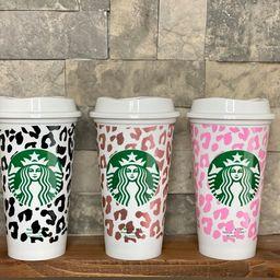 Cheetah wrap Starbucks cup, Reusable 16oz Grande hot cup, Personalized Cheetah, Leopard Wrap   Etsy (US)