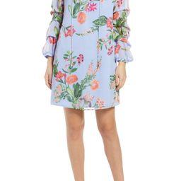 Floral Long Sleeve Shift Dress | Nordstrom