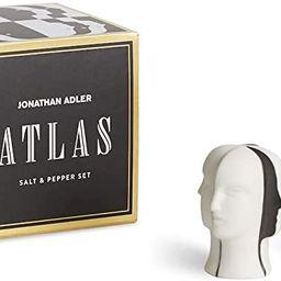 Jonathan Adler Atlas Salt & Pepper Set, One Size, Black and White | Amazon (US)