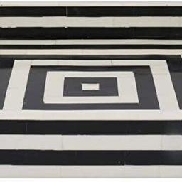 "Handicrafts Home 12"" x 12"" Concentric Art Inspired Decorative Trays Black & White | Amazon (US)"
