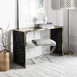 Safavieh Home Kylie Glam Black Marble and Brass Console Table | Amazon (US)