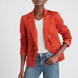 Double-Breasted Linen Blend Fashion Blazer   Banana Republic Factory