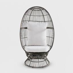 Latigo Swivel Patio Egg Chair Brown - Opalhouse   Target