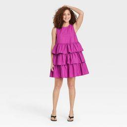Women's Sleeveless Multi Tiered Dress - Who What Wear™   Target