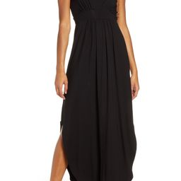 V-Neck Jersey Maxi Dress   Nordstrom