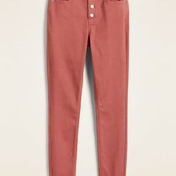 High-Waisted Button-Fly Pop-Color Rockstar Super Skinny Jeans for Women   Old Navy (US)