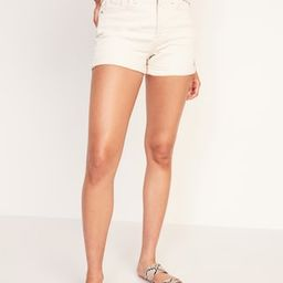 High-Waisted O.G. Straight Ecru-Wash Jean Shorts for Women -- 3-inch inseam   Old Navy (US)