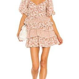 Tularosa Shaylee Dress in Dried Rose Floral from Revolve.com | Revolve Clothing (Global)