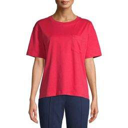 Time and Tru Women's Pima Cotton Boyfriend T-shirt   Walmart (US)