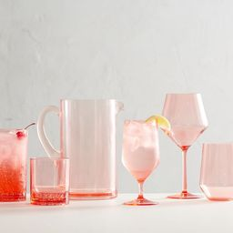Happy Hour Acrylic Drinkware Collection - Coral | Pottery Barn (US)