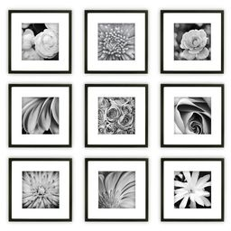 9pc Wall Frame Set Black - Gallery Perfect | Target