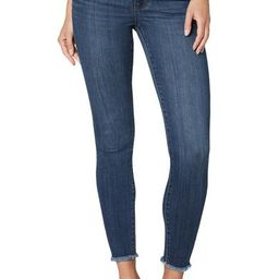 HI-RISE DOUBLE WAISTBAND ANKLE SKINNY FRAY HEM   Liverpool Jeans
