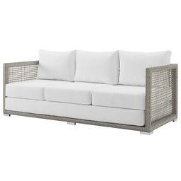 Modern Contemporary Urban Design Outdoor Patio Balcony Garden Furniture Lounge Sofa, Rattan Wicke... | Walmart (US)