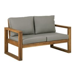 Manor Park Outdoor Patio Loveseat with Cushions, Brown | Walmart (US)