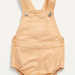 Pop-Color Jean Overall Bubble One-Piece for Baby | Old Navy (US)