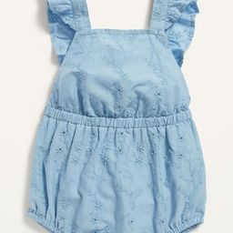 Sleeveless Eyelet Bubble One-Piece for Baby | Old Navy (US)