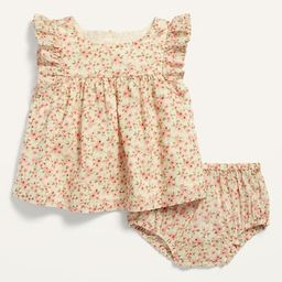 Floral Flutter-Sleeve Top and Bloomers Set for Baby | Old Navy (US)