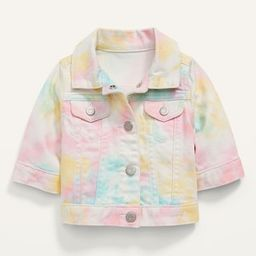 Rainbow Tie-Dye Jean Jacket for Baby | Old Navy (US)