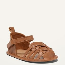Faux-Leather Ankle-Strap Huarache Flats for Baby | Old Navy (US)