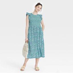Women's Sleeveless Smocked Dress - A New Day™ | Target