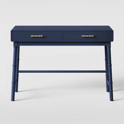 Oslari Wood Writing Desk with Drawers Blue - Opalhouse™   Target