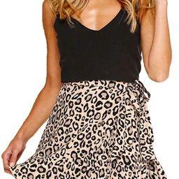 Women's Leopard Asymmetrical Ruffles High Waist Printed Cute Summer Casual Mini Skirt   Amazon (US)