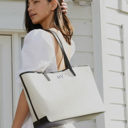 Belmont Tote in Canvas   Leatherology