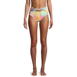 No Boundaries Juniors' Tropical High Waisted Swim Bikini Bottoms | Walmart (US)