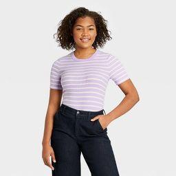 Women's Short Sleeve Rib T-Shirt - A New Day™   Target