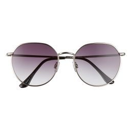 55mm Round Wire Sunglasses | Nordstrom