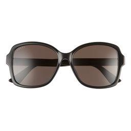 57mm Rectangular Sunglasses | Nordstrom