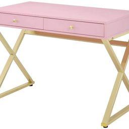 ACME Coleen Desk - - Pink & Gold | Amazon (US)