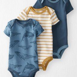 3-Pack Organic Cotton Rib Bodysuits | Carter's