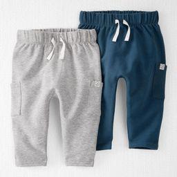 2-Pack Organic Cotton Terry Pants | Carter's