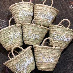 Personalized straw moroccan basketbridal shower | Etsy | Etsy (US)