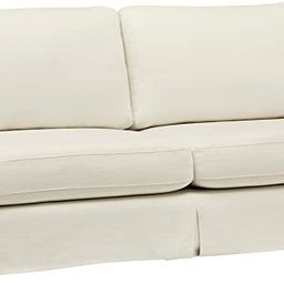 "Amazon Brand – Stone & Beam Bryant Modern Sofa Couch with Slipcover, 85.1""W, Optic White | Amazon (US)"